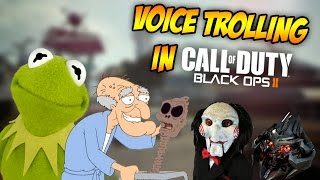 VOICE TROLLING IN BLACK OPS 2! (Herbert The Pervert, Jigsaw, Megatron, Kermit the Frog & More!)