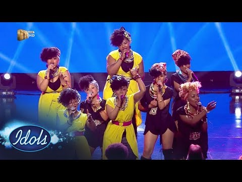 Top 16 Girls – 'Only Girl In The World' / 'We Found Love' – Idols SA | Mzansi Magic
