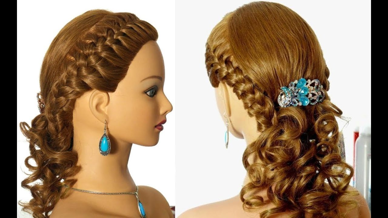 Romantic Braided Prom Hairstyle For Long Hair Youtube