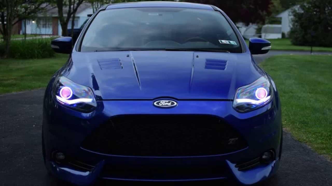 2014 Ford Escape Headlights >> Focus ST TLF custom headlights - YouTube