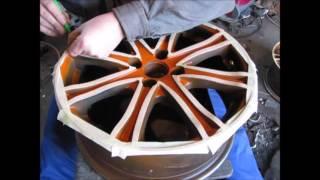 Ремонт и покраска дисков на Geely Mk Cross.