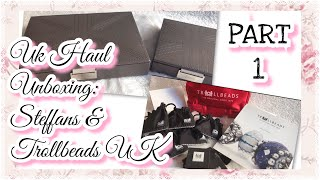 Part1: Uk Haul  Unboxing- Steffans Stackers Jewelrybox & Trollbeads UK Trollbeads Bracelet & Unique