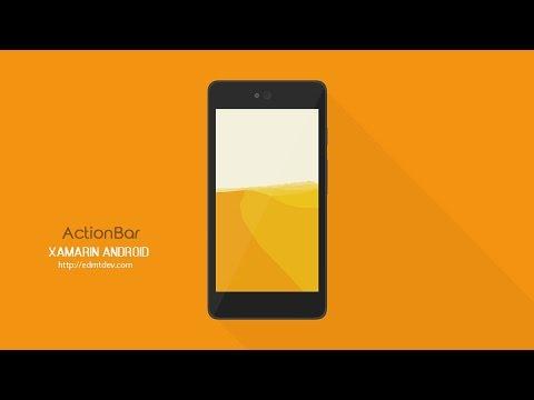 Xamarin Android Tutorial - Action Bar