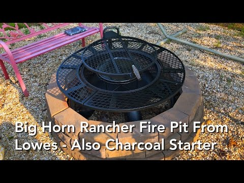 Big Horn Rancher Fire Pit From Lowes - Also Charcoal Starter Chimney
