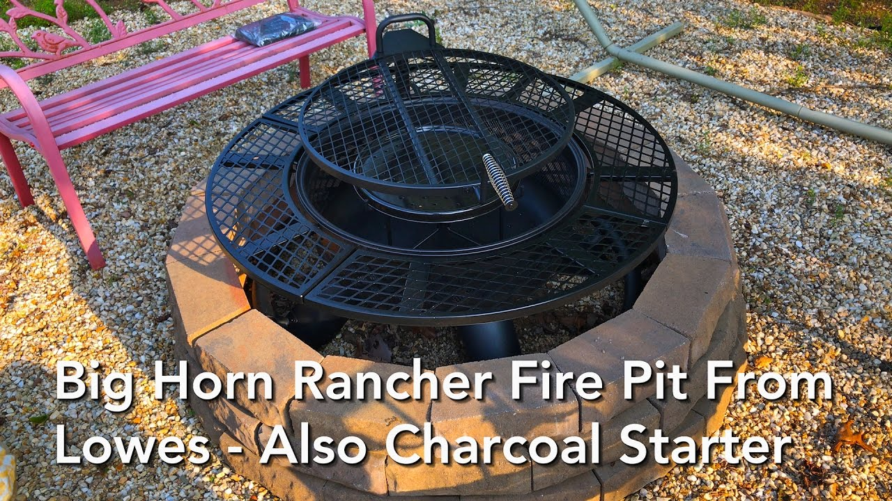 Big Horn Rancher Fire Pit From Lowes Also Charcoal