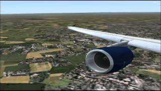 FS2004  airbus A320 - 200   US  airways  flight  from  Thessalonici  to  Germany