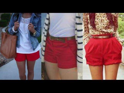Outfitsu202c Con Shorts Rojos - Como Combinar Mis Shorts - YouTube