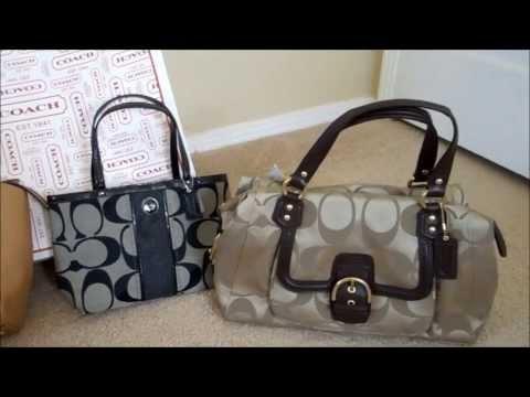 d21147a07b866 Coach retail handbags vs Coach factory outlet handbags - YouTube