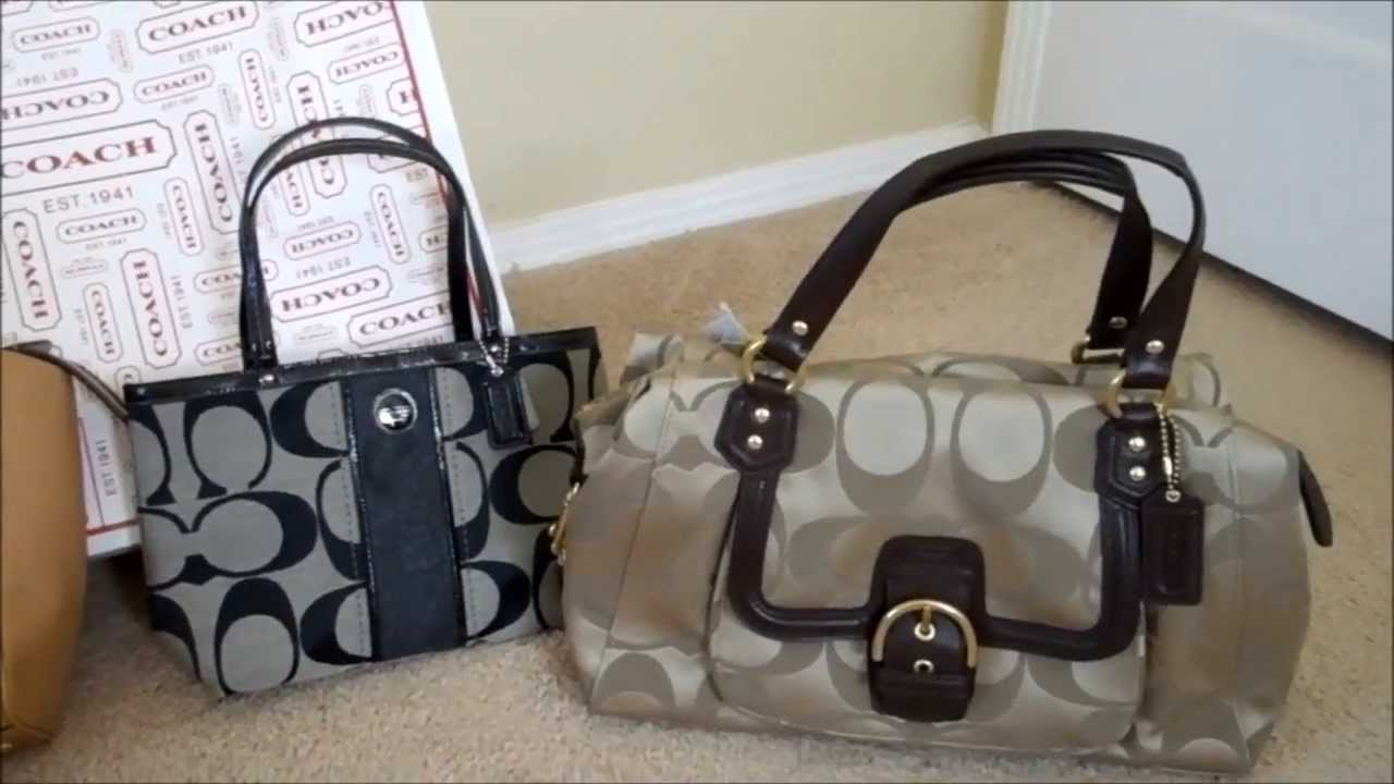 ae23868913 Coach retail handbags vs Coach factory outlet handbags - YouTube