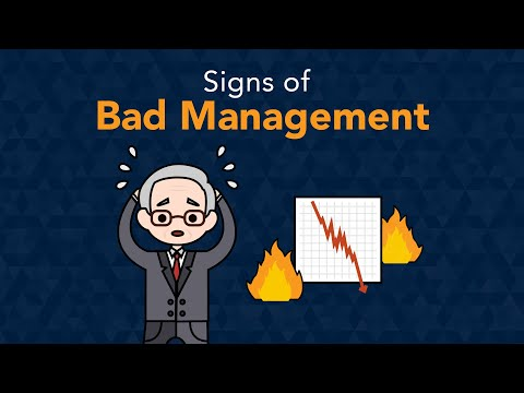 6 Signs A Business Has Bad Management | Phil Town