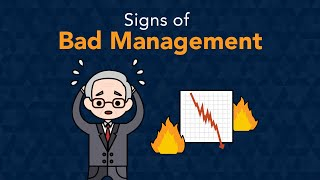 Signs Business Has Bad Management