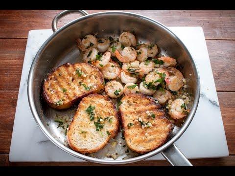 One Pan Lemon Garlic Shrimp Toast