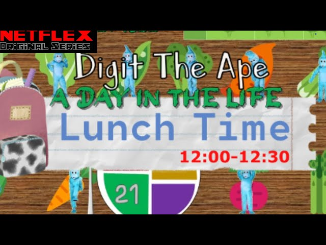 LUNCH TIME: Digit the Ape - A Day in the Life (Move 'n' Learn #7)