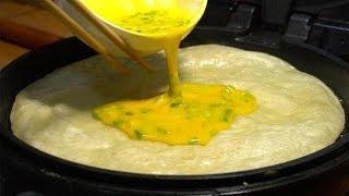 鸡蛋早餐饼的做法,做出的饼非常的柔软,凉了也不硬