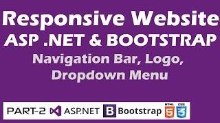 Responsive Website ASP NET & Bootstrap Part 2 Navigation Bar Logo Dropdown Menu