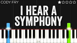 Cody Fry - I Hear a Symphony   EASY Piano Tutorial