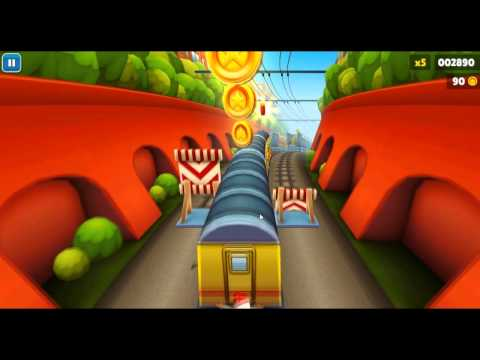Subway Surfers Бегаем по поездам,Экран (5).