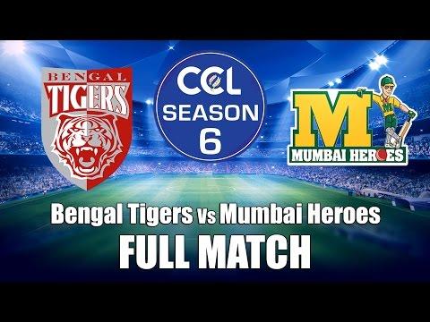 Celebrity Cricket League (CCL6)  Bengal Tigers Vs Mumbai Heroes - Full Match