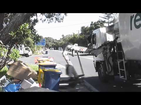 Recycling truck - Auckland New Zealand