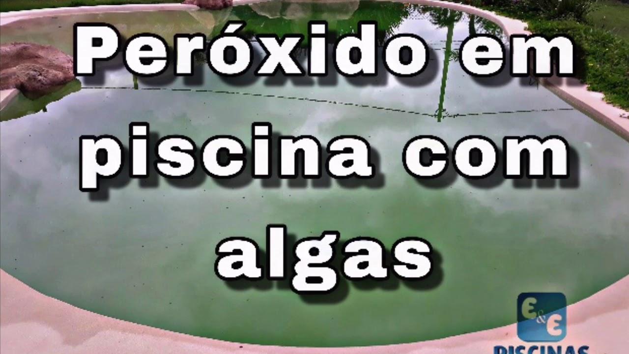 Peróxido em piscina com algas