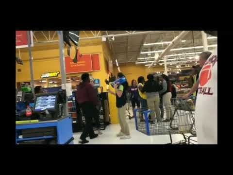 Wal mart ratchet fight in Natchitoches, Louisiana