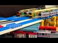 中央・総武線と丸ノ内線が立体交差する御茶ノ水駅をプラレールで作ってみた