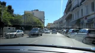 Марсель из окна автомобиля.  Сентябрь 2013 года(Осеннее путешествие в Прованс. Мы прилетели в Марсель и на арендованной машине прокатились по Провансу...., 2013-10-03T07:14:35.000Z)