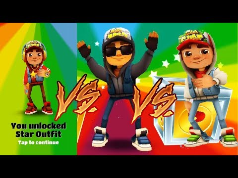 play-subway-surfers-gameplay-on-pc---jake-playing-in-3-outfits---blue,dark-and-star-outfit