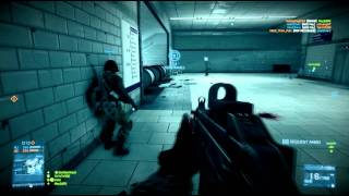 Battlefield 3 Gameplay: 64 Player Metro Conquest [HD]