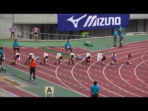 Nat'l Corp Champ2017 Women's100m heat2 Chiaki NAGURA11.79(-0.6) 名倉千晃 市川華菜 永野真莉子