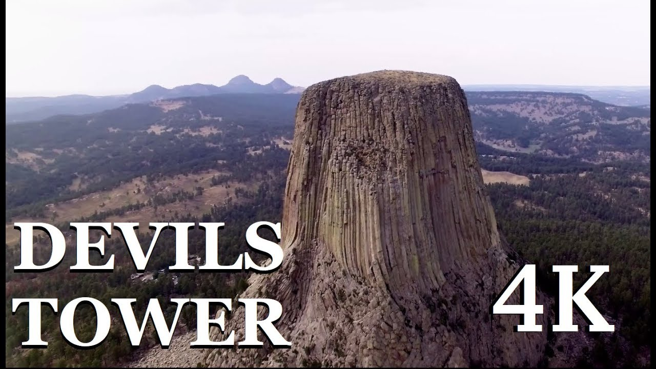 devils tower 4k drone youtube