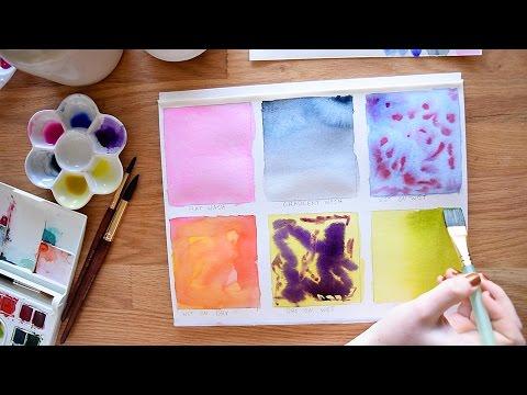 Beginner Watercolor Exercises Part 3~ Wash Techniques - YouTube