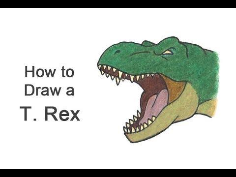 how-to-draw-a-t.-rex-head-roaring-(cartoon)