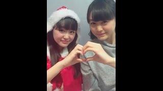 20161224 LINELIVE 原宿駅前パーティーズ(伊藤小春、三根優希) 伊藤小...