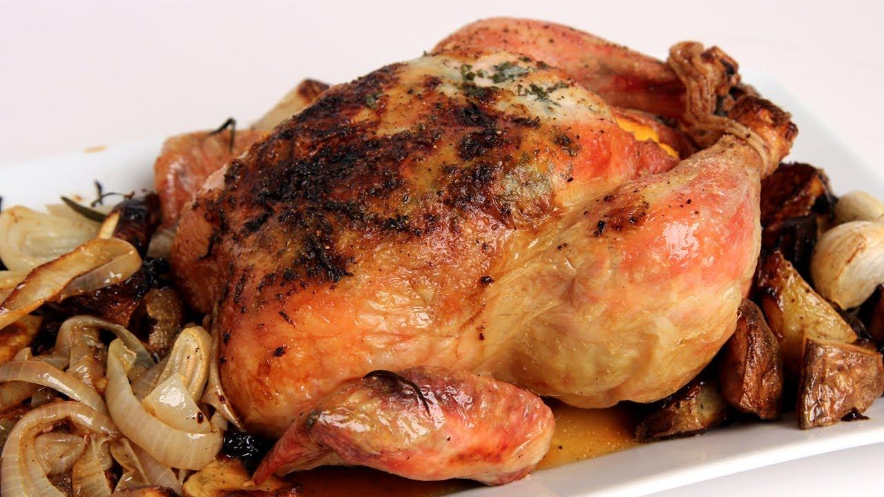 Whole Roast Chicken Recipe - Laura Vitale - Laura in the Kitchen ...