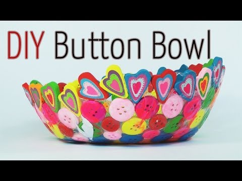 Diy craft button bowl ana diy crafts youtube for Wealth out of waste ideas for adults