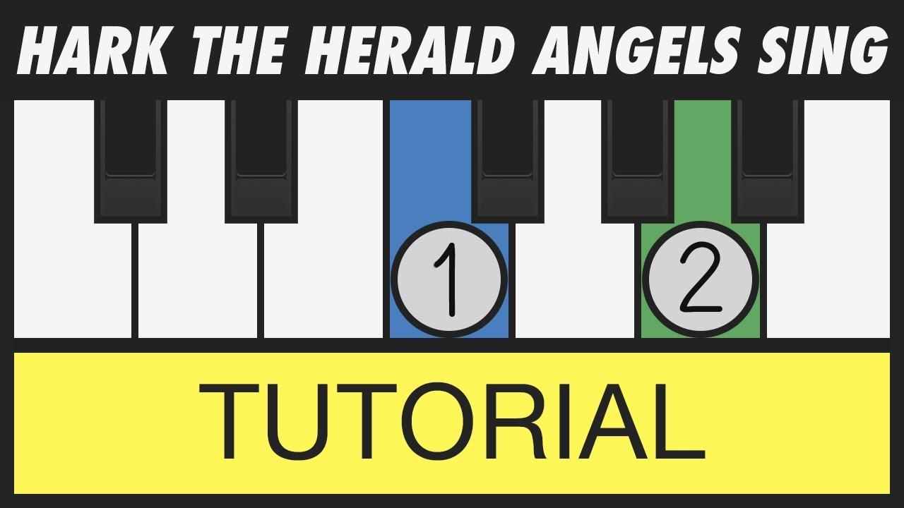 Hark the herald angels sing easy piano tutorial youtube the herald angels sing easy piano tutorial hexwebz Images