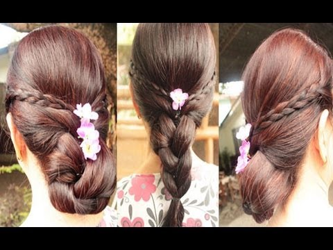 quick braided hairstyle easy