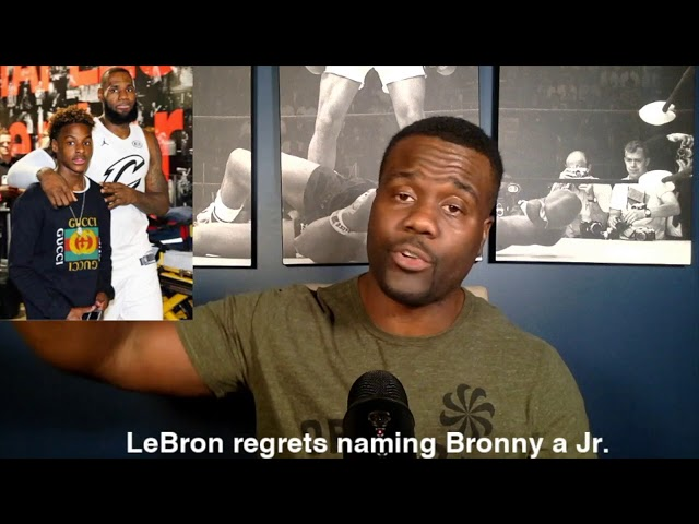 LeBron should not regret naming his son Jr. Wrighster Or Wrong