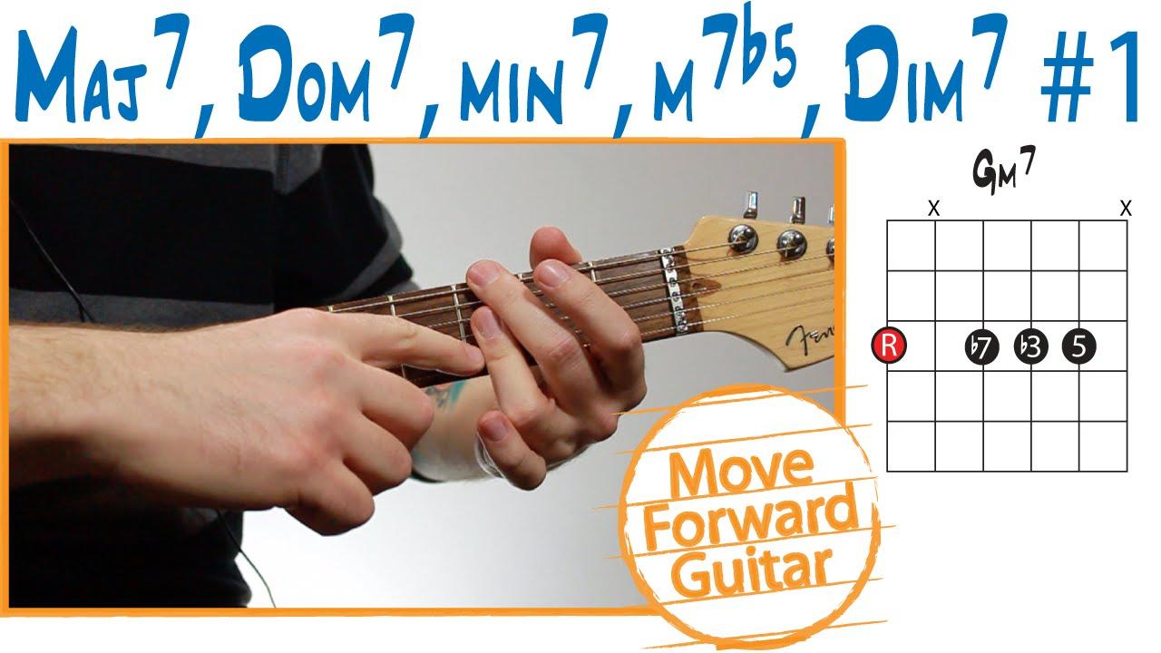 Guitar Chord Theory Maj7 Dom7 Min7 M7b5 Dim7 1 Youtube