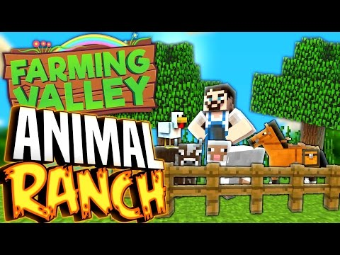 Minecraft Farming Valley #18 - I Build An Animal Ranch