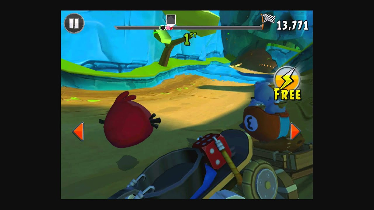 Angry Birds Go! Rocky Road Track 2- Race 3 [Gameplay
