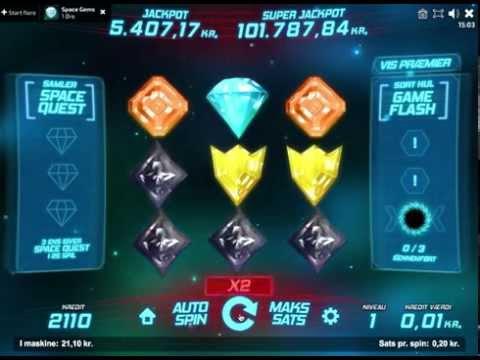 Space Gems - den kosmiske spilleautomat