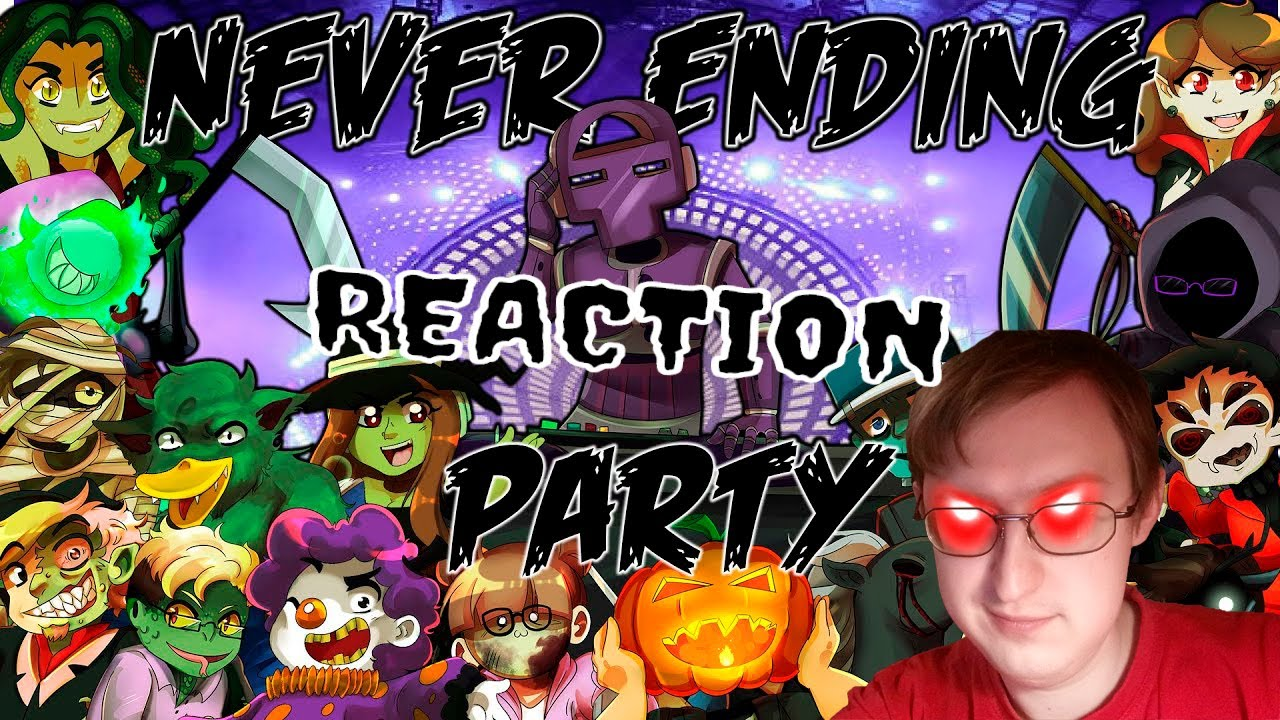 Never Ending Party (Halloween YouTube Singers Collab) | РЕАКЦИЯ