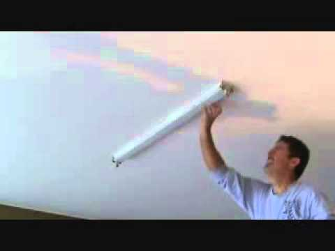 How to install a surface mounted fluorescent light fixturert 1 youtube premium mozeypictures Image collections