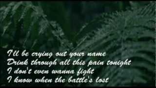 Loreen-Crying out your name (Lyrics Video)