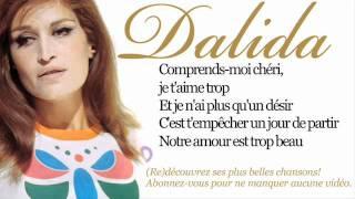 Dalida - Garde moi la dernière danse - Paroles (lyrics)