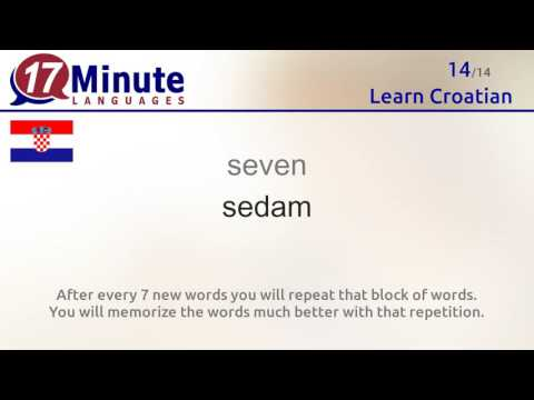 Learn Croatian (free language course video)