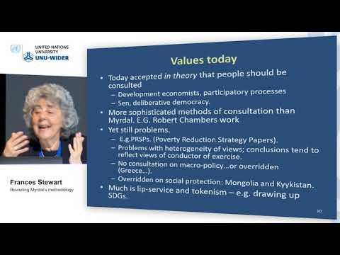 Think development – Think WIDER | Parallel 4.1 - Frances Stewart
