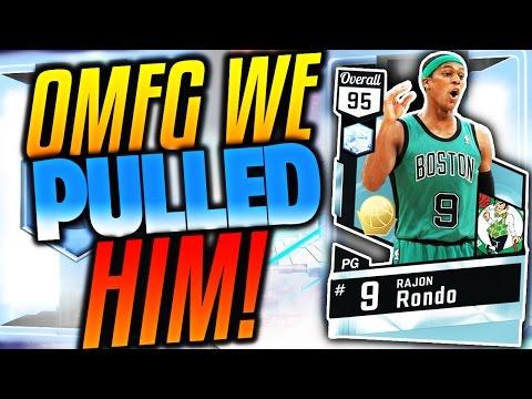 OMG WE PULLED HIM! DIAMOND RAJON RONDO! NBA 2K17 MyTEAM INSANE PULL! PACK OPENING!